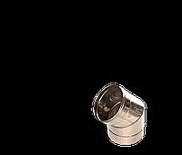 Коліно 45, неіржавіюча сталь, товщиною 0,5 мм, діаметр 100мм