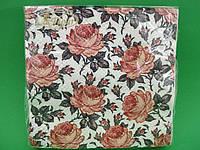 Салфетка (ЗЗхЗЗ, 20шт)  La Fleur Аромат розы(1251) (1 пач)