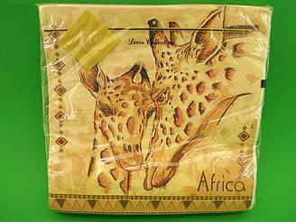 Салфетка (ЗЗхЗЗ, 20шт) Luxy  Африка(1249) (1 пач)
