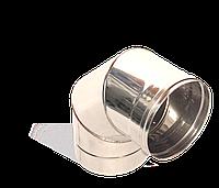 Коліно 90, неіржавіюча сталь, товщиною 0,8 мм, діаметр 230мм