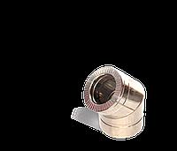 Коліно 45, утеплене нержавіюча сталь, товщина 0,8 мм, діаметр 130мм