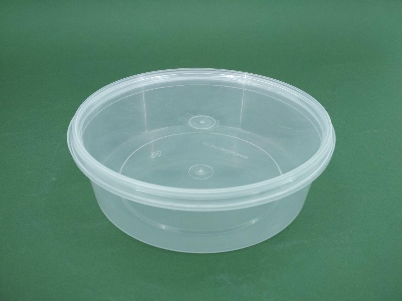 Відро з кришкою круглий прозорий 0,5 л (50 шт)