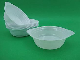 Тарелка одноразовая  стеклоподобная диаметр 500 мл  белая (10 шт)