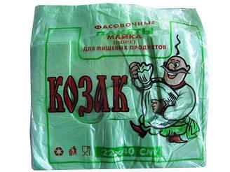"""Майка п\э №22*40 """"Козак""""цветная(100шт) (1 пач)"""