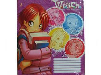 Зошит кольорова 12л коса Gold brisk (25 шт)