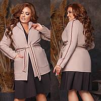 Женское Пальто на запах Батал