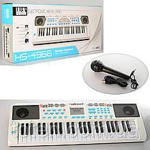 Синтезатор HS4966-68B 49 клавиш, микрофон, USBзарядное, МР3