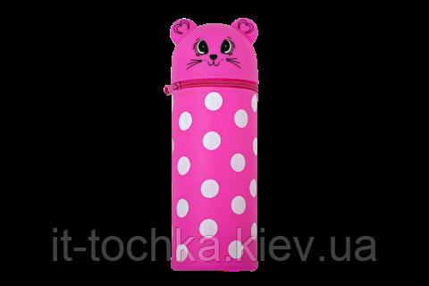 Пенал силиконовый Котенок розовый zibi zb.704216