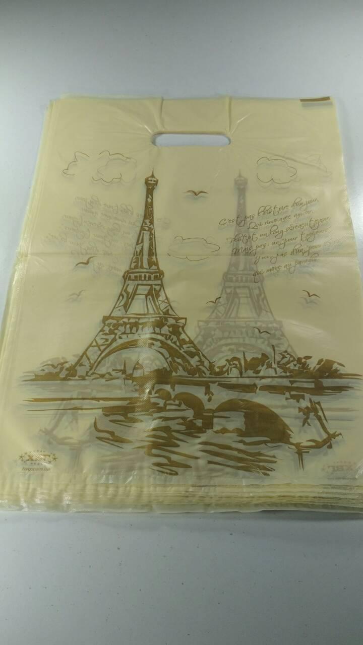 """Пакеты с вырубной ручкой (28*42)""""Париж """" ХВГ (50 шт)"""