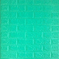 3д панель стеновой декоративный Мята Кирпич (самоклеющиеся 3d панели оригинал) зеленый 700x770x5 мм, фото 1