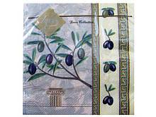 Декоративные столовые салфетки (ЗЗхЗЗ, 20шт) Luxy  Грецкая оливка