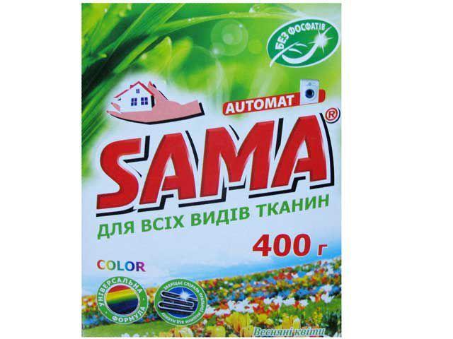 Стиральный порошок SAMA автомат 400 без фосфатов Весенние цветы  (1 шт)
