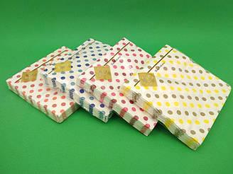 Салфетки бумажные сервировочные (ЗЗхЗЗ, 20шт) Luxy  Горохи
