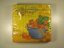 Салфетки бумажные сервировочные (ЗЗхЗЗ, 20шт) Luxy  Клубничный урожай