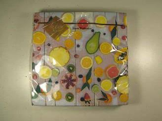 Салфетки бумажные сервировочные (ЗЗхЗЗ, 20шт) Luxy  Райские фрукты