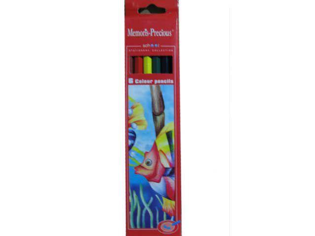 Карандаши цветные Мэморис или 1вересея(6шт) (1 пач)