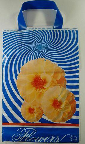 Пакеты с петлевой ручкой полиэтиленовые 25см 35см Флора (25 шт)