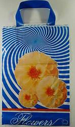 Пакети з петлевою ручкою поліетиленові 25см 35см Флора (25 шт)