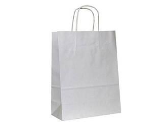 Пакет паперовий білий з ручками 36*25*11см білий 25 шт