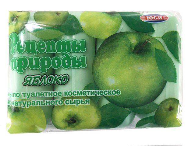 """Мыло туалетное  4 шт. 75 грамм Яблоко """"ЮСИ"""""""