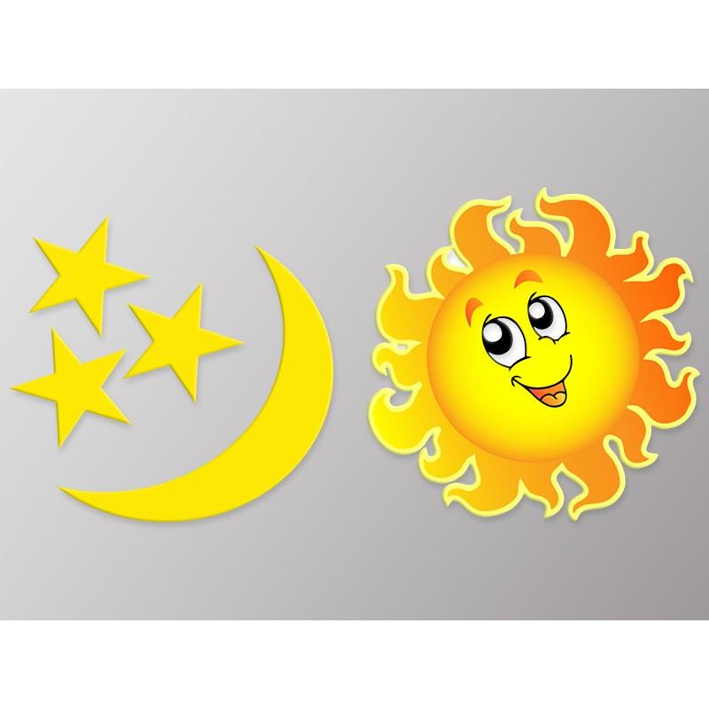 Наклейка    Вінілова плівка Німеччина  Сонце та Місяць