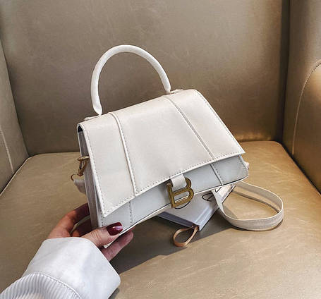Стильна сумка скринька на ремінці В, фото 2