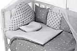 Детская постель Babyroom Classic косичка-01  серо-белые звездочки, фото 6