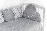 Детская постель Babyroom Classic косичка-01  серо-белые звездочки, фото 7