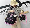 Стильный набор Рюкзак, сумка и пенал 3в1 с помпоном  для модных девушек, фото 4