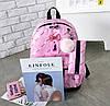 Стильный набор Рюкзак, сумка и пенал 3в1 с помпоном  для модных девушек, фото 5