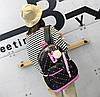 Стильный набор Рюкзак, сумка и пенал 3в1 с помпоном  для модных девушек, фото 6