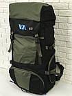 Рюкзак туристический VA T-04-8 85л, олива, фото 3
