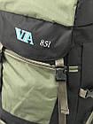 Рюкзак туристический VA T-04-8 85л, олива, фото 8