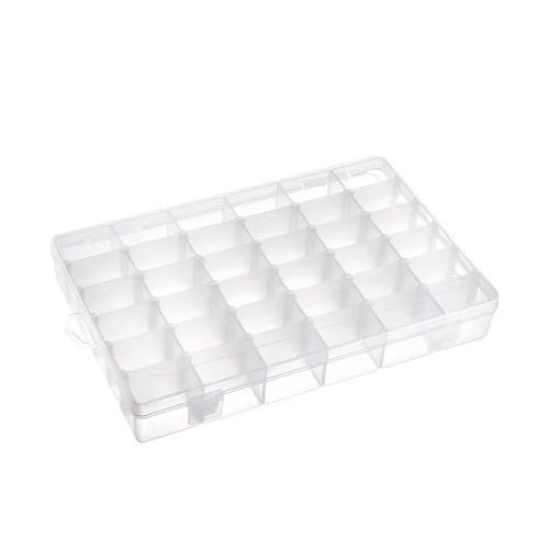 Коробка органайзер кейс для снастей бисера BTB 275х175x40мм 36 ячеек