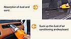 Автомобільний порохотяг для сухого та вологого прибирання авто пилосос 12v 120W Orange, фото 3