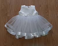 Святкова біла пишна сукня, для самих маленьких «Квіточка», фото 1