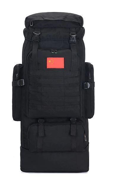 Рюкзак тактический раздвижной BTB  K1006 черный, 70-85 л