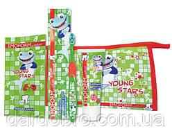 Детский набор для чистки зубов Emoform Actifluor Youngstars Set, Wild-Pharma