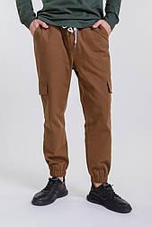 Мужские брюки-карго (Коричневый)