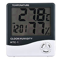 Цифровий термометр годинник гігрометр HTC-1
