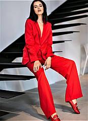 Костюм женский деловой красного цвета R&Y 42,44,46,48