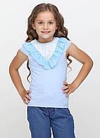 Футболка для девочек - G-18577S_голубой 128, фото 1