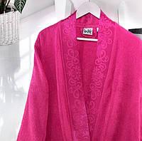 Бамбуковый халат Ladik Jessi  v4 Малиновый S