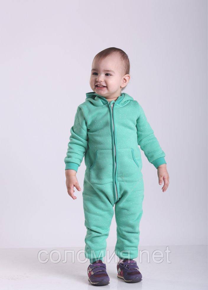 Комбинезон для малышей - K-18468W_зеленый 80