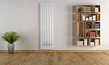 Дизайнерский вертикальный радиатор Quantum 1 Betatherm 2000/525 14-16 м.кв., фото 2
