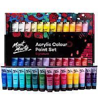 Акриловые краски. Набор качественных акриловых красок для рисования Mont Marte 48 шт х 36 мл