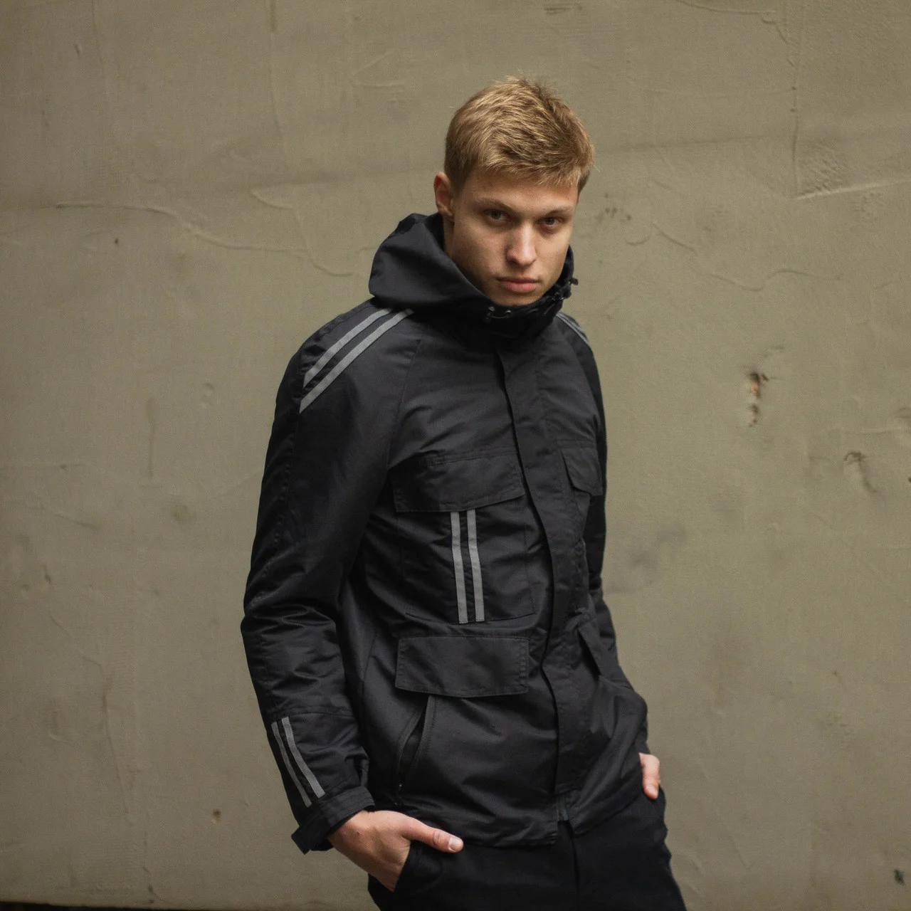 Куртка демісезонна чоловіча ТУР Рейвен з рефлективом чорна