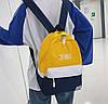 Стильные тканевые двухцветные рюкзаки для школы, фото 2