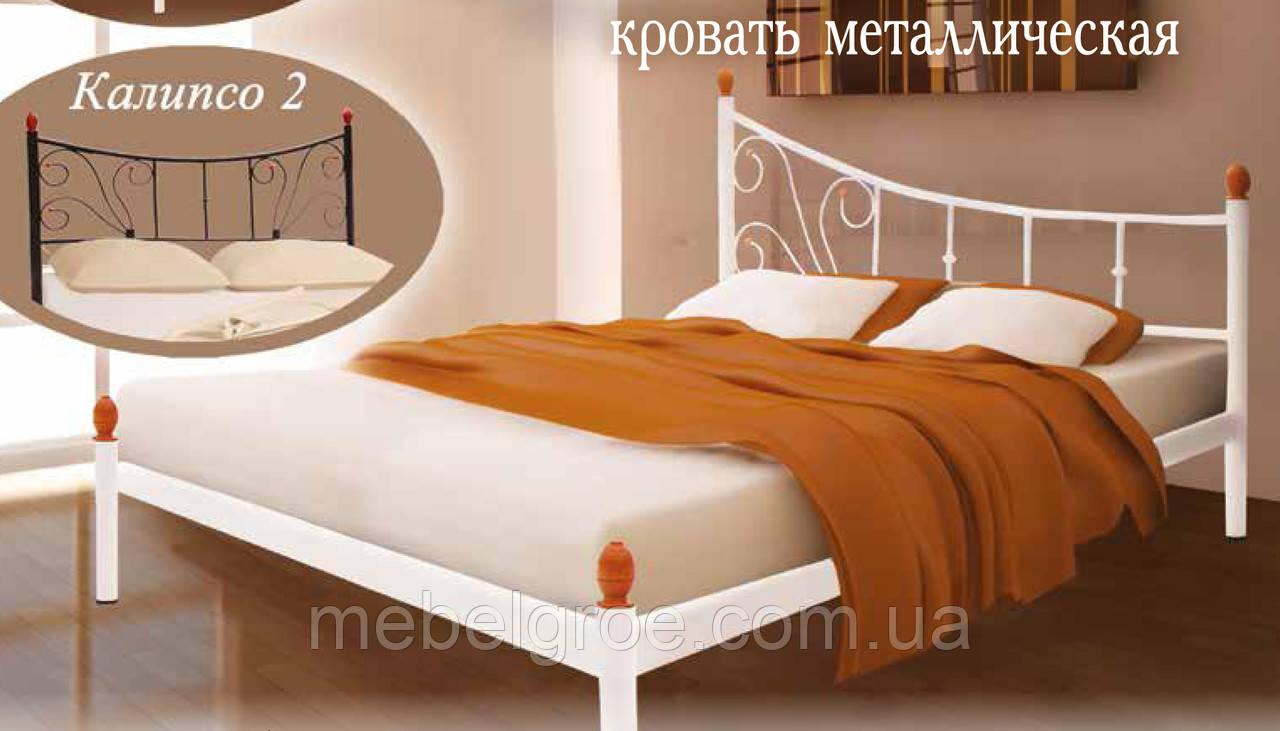 Кровать двуспальная Калипсо-2  1600х2000(1900)мм тм Металл-Дизайн