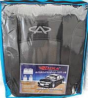 Автомобильные чехлы Chery Eastar Авточехлы Чери Истар 2003- Nika модельный комплект